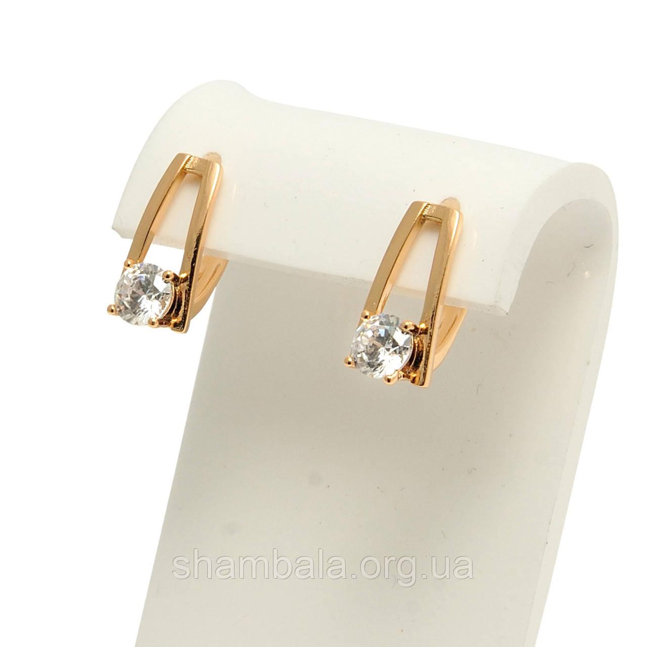 "Серьги Xuping Jewelry ""Gemstone"" позолота (073255)"