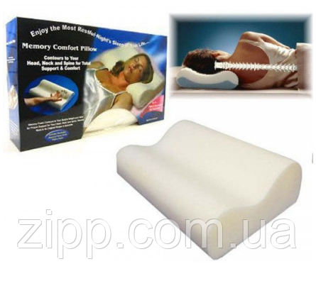 Ортопедична подушка з пам'яттю Memory pill