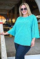 Женская легкая блузка туника просторного кроя Батал, фото 1