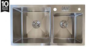Кухонная мойка  стальная Galaţi Arta U-700 750*43*23 толщина 1.2 мм