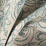 Мебельная ткань с орнаментом Хай Лайн Вашингтон (High Line Washington) голубого цвета, фото 3