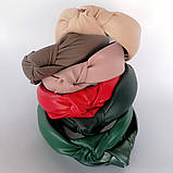 Ободок модный с узелком. ободок Чалма. эко-кожа разные цвета, фото 2