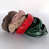 Ободок модный с узелком обруч Чалма эко-кожа разные цвета, фото 2