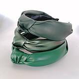 Ободок модный с узелком обруч Чалма эко-кожа разные цвета, фото 8