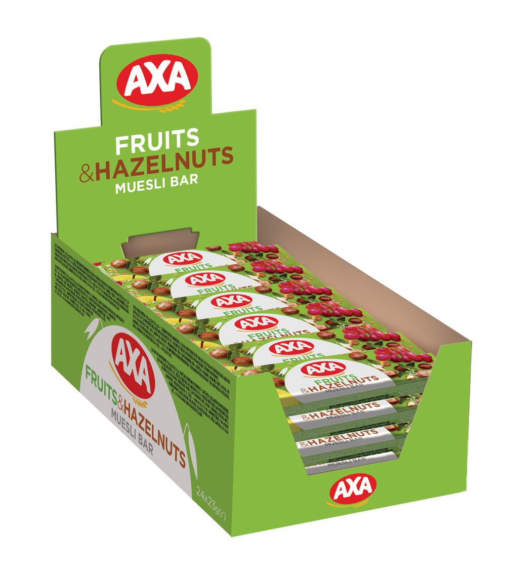 Зерновий батончик з фруктами та горіхами 23г | 24шт АХА