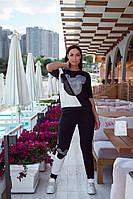 Женский спортивный костюм с футболкой Микки Маусом размеры 48-50 52-54
