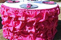 Аренда фуршетных юбок, чехлов и бантов на стулья, Оригинальные драпировки и декор