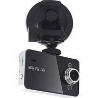 Видеорегистратор с ночной видеосъемкой K6000 Black Авторегистратор HD 1280х720