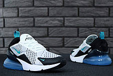 Чоловічі кросівки в стилі Nike Air Max 270 White/Blue/Black, фото 3