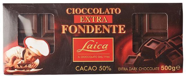 Laica  шоколад 500г, 50% cacao