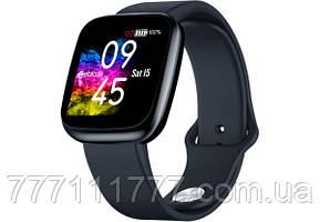 Смарт часы с пульсометром и шагометром на андроиде Zeblaze Crystal 3 black