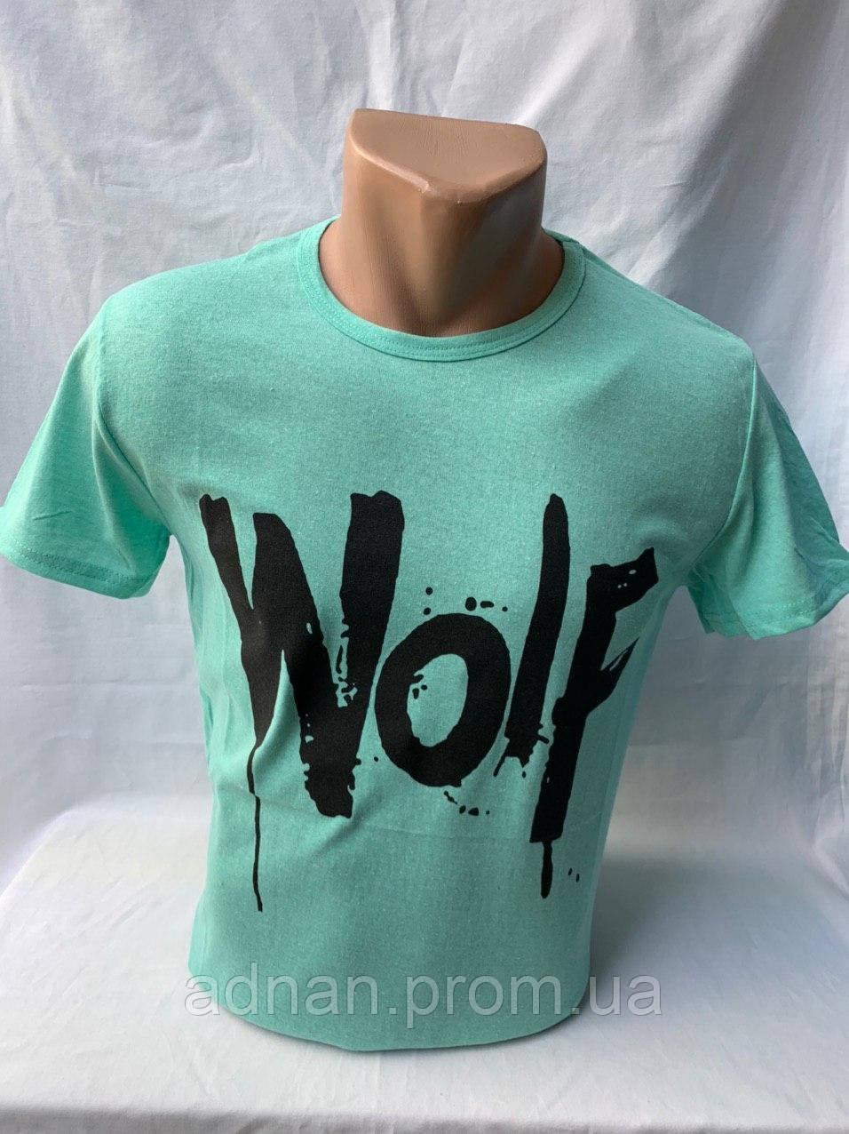 Футболка мужская фирмы KLAS 23 х/б WOLF 002 \ купить футболку мужскую оптом