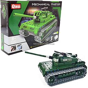 Конструктор BestToys танк на радиоуправлении, 453 дет, 6+, подвижная башня (8011)