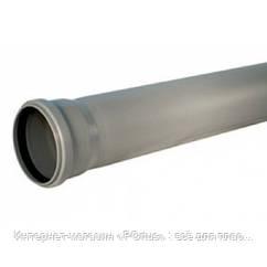 Труба 110х2,2х3000 ПВХ Инсталпласт раструбная с уплотнительным кольцом для внутренней канализации серая