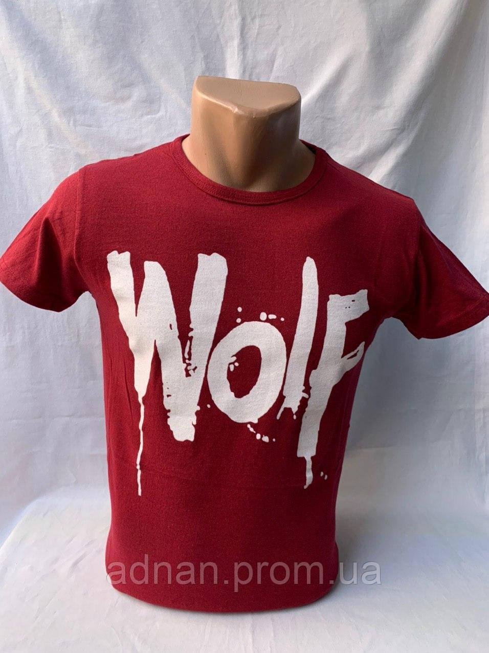 Футболка мужская фирмы KLAS 23 х/б WOLF 004 \ купить футболку мужскую оптом