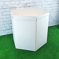 Коробка сюрприз шестигранная для шаров Бела 70х70х70см
