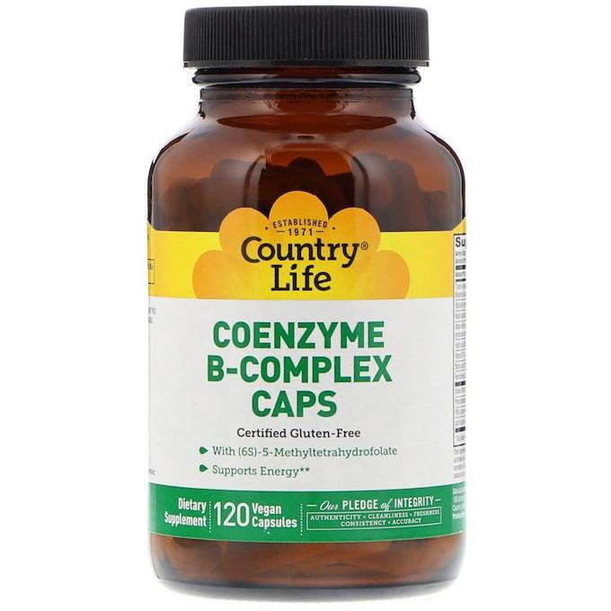 "Коэнзим В-комплекс Country Life ""Coenzyme B-Complex Caps"" кофермент (120 капсул)"