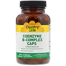"Коэнзим В-комплекс Country Life ""Coenzyme B-Complex Caps"" кофермент (120 капсул)"