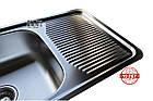 Кухонная мойка Galati Amina 750*440*180 Textura сталь 0.8 мм, фото 8