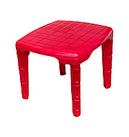 Столик детский пластиковый, квадратный, 560 * 560 КРАСНЫЙ Консенсус