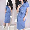 Женское льняное платье в расцветках БЛ-18-0520, фото 2