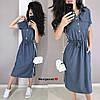 Женское льняное платье в расцветках БЛ-18-0520, фото 4