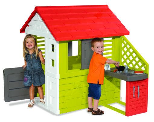 """Детский домик с кухней """"Солнечный"""", красный (Pretty House and Kitchen), Smoby 2+ (810713)"""