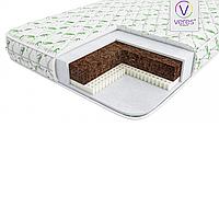 Детский матрас для новорожденных в кроватку Veres Latex Lux 125x65x10 cм, белый