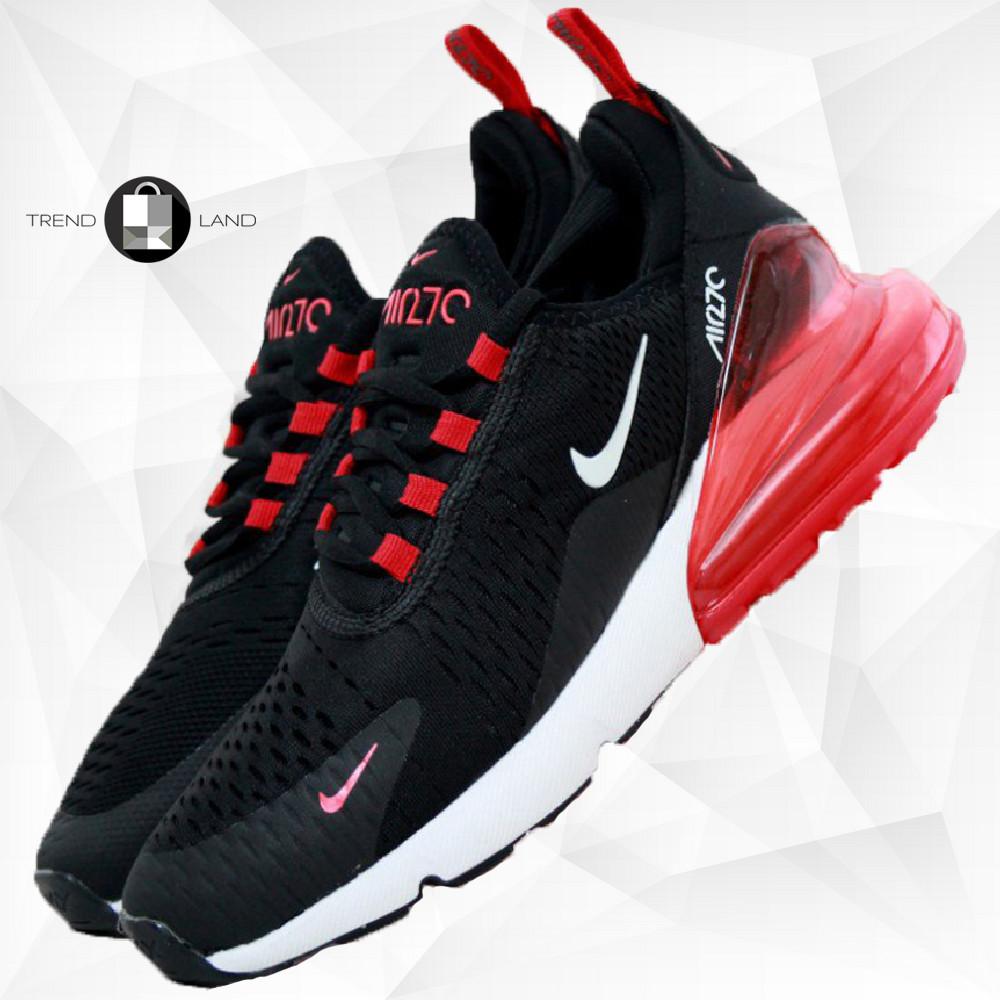 Мужские кроссовки в стиле Nike Air Max 270 White/Black Белые с черным