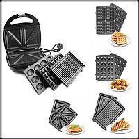 Сендвичница вафельница гриль орешница бутербродница 4 в 1 Livstar LSU1219