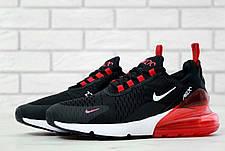 Мужские кроссовки в стиле Nike Air Max 270 White/Black Белые с черным, фото 3