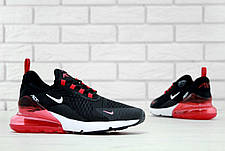Мужские кроссовки в стиле Nike Air Max 270 White/Black Белые с черным, фото 2