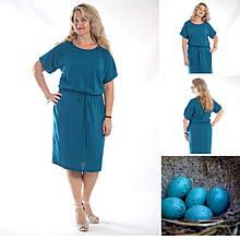 Платье штапельное 48-56 морволна, яйца дрозда. Пл 191-4