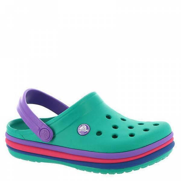 Crocs Детские кроксы клоги сабо радужные Crocband Rainbow Band Clog