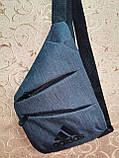 Барсетка ADIDAS слинг на грудь мессенджер Унисекс/Cумка спортивные для через плечо(ОПТ), фото 2