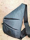 Барсетка ADIDAS слинг на грудь мессенджер Унисекс/Cумка спортивные для через плечо(ОПТ), фото 3
