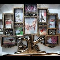 Коллаж  мультирамка дерево