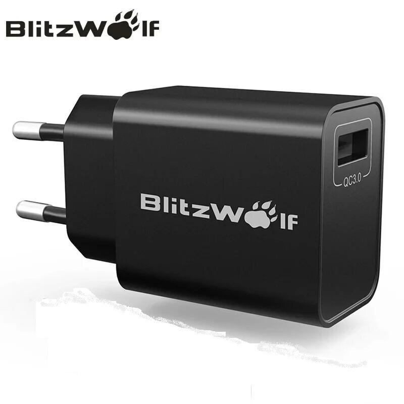 Зарядное устройство BlitzWolf BW-S9 Qualcomm Quick Charge 3.0. Быстрая зарядка