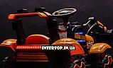 Детский электромобиль Трактор с подвижным ковшом и подсветкой Bambi M 4263EBLR-3 красный, фото 4