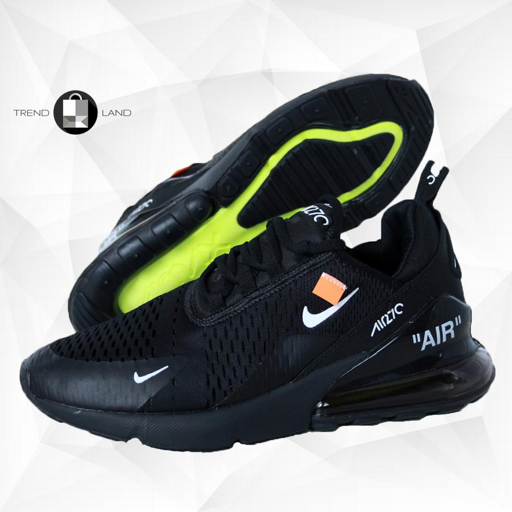 Чоловічі кросівки в стилі Virgil Abloh Off-White x Nike Air Max 270 Black