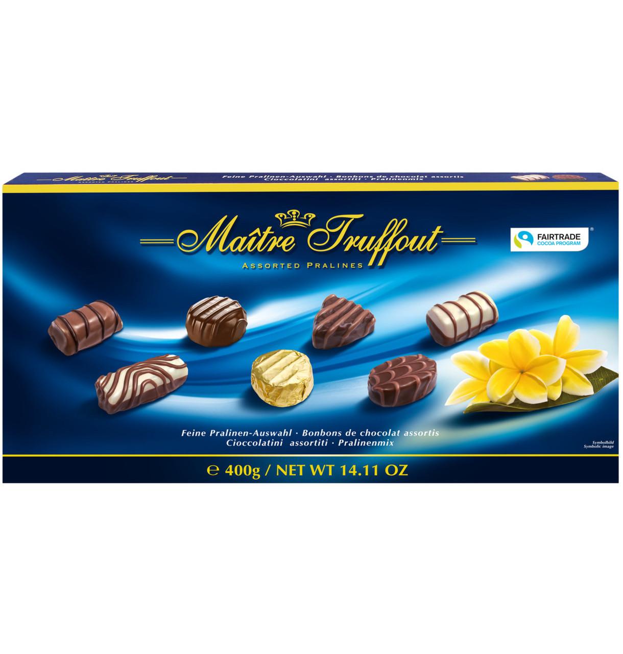 Цукерки  Maitre Truffout, асорті праліне сині, 400г