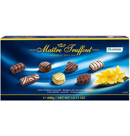 Цукерки  Maitre Truffout, асорті праліне сині, 400г, фото 2