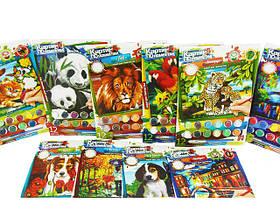 Картины по номерам для детей на картоне