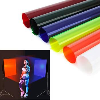 Цветные светофильтры пленочные для софтбоксов, панелей
