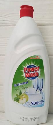 Засіб для миття посуду Power Wash Spulmittel яблуко 900мл, фото 2