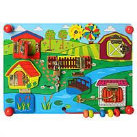 Деревянная игрушка Бизиборд MD 2054-1 ( 2054-1 (Ферма))