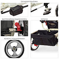 Велосипед колясочный M 3113-9L