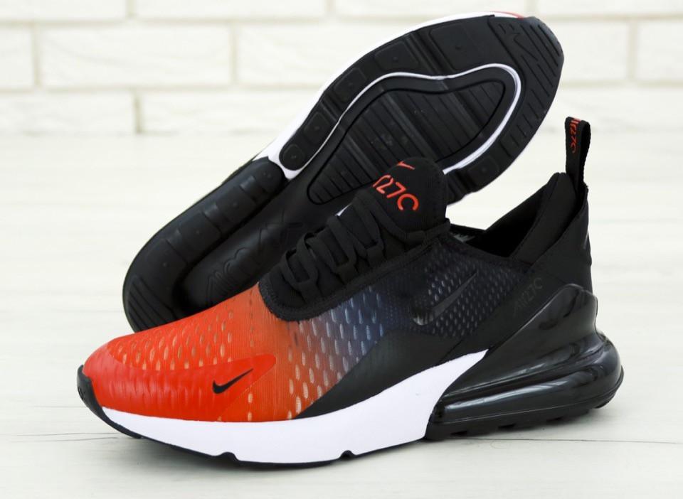 Мужские кроссовки в стиле Nike Air Max 270 Black/Red/Grey