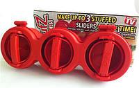 Пресс форма на 3 места Stufz Sliders для приготовления котлет, гамбургеров, бургеров, фото 1