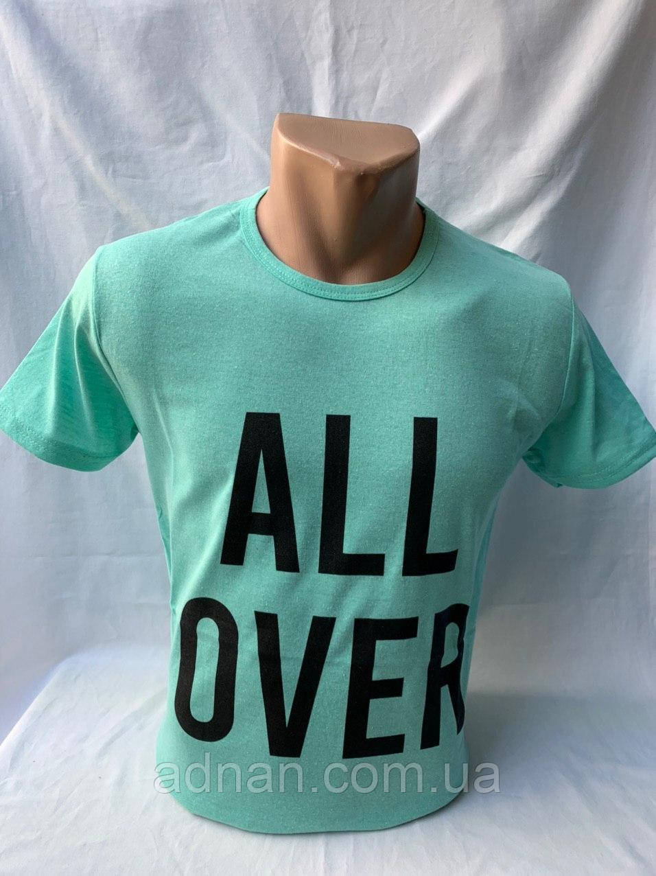 Футболка мужская фирмы KLAS 23 х/б ALL OVER 006 \ купить футболку мужскую оптом
